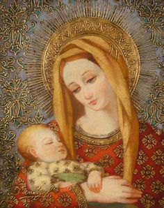 Featured pieces from Diana Mendoza, Sorelle Gallery, Albany, NY Divine Mother, Blessed Mother Mary, Blessed Virgin Mary, Religious Pictures, Religious Icons, Religious Art, Jesus And Mary Pictures, Images Of Mary, Holly Pictures