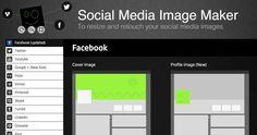 Social media image maker. Pratique pour créer vos images de profil pour les réseaux sociaux. #cm