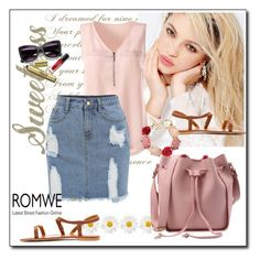 """""""Romwe  6"""" by aida-1999 ❤ liked on Polyvore featuring Silvana and Oscar de la Renta"""