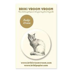 Badge chat Briki Vroom Vroom