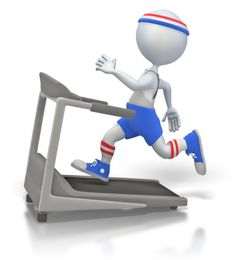 ID# 1968 - Working Out on Treadmill - Presentation Clipart Animated Icons, Animated Clipart, Powerpoint Animation, 3d Human, Sculpture Lessons, Classroom Treats, Gym Workout For Beginners, Stick Figures, Illustrations And Posters