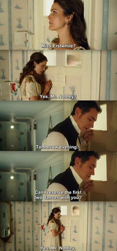 Austenland - Jane & Mr. Nobley - my favorite part.  Well, one of my favorite parts :)