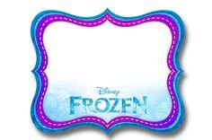Frame Frozen Roxo e Azul:
