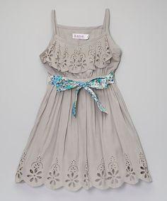 Look what I found on #zulily! Stone Maya Dress - Toddler & Girls #zulilyfinds