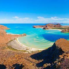 Balandra Beach in La Paz, Baja Sur's state capital on the edge of the Sea of Cortez.