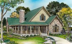 Large Loft with Full Bath - 46015HC   1st Floor Master Suite, CAD Available, Cottage, Country, Hill Country, Loft, PDF, Wrap Around Porch   Architectural Designs