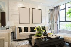 minimalist living room small decorative elements