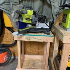 Custom Workshop Tables - RYOBI Nation Projects Ryobi Table Saw, Ryobi Tools, Router Table, Drill Press, Dust Collection, Garage Ideas, Working Area, In The Heights, I Shop