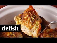 Best Slow-Cooker Parmesan-Garlic Chicken - How to Make Slow-Cooker Parmesan-Garlic Chicken