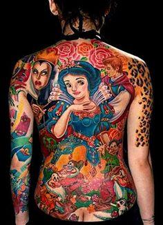 snow white tattoo by Mariana ♪♫, via Flickr