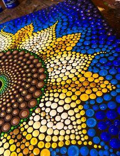 Mandala Art, Mandala Canvas, Mandala Rocks, Mandala Painting, Stone Mandala, Rock Painting Patterns, Dot Art Painting, Pebble Painting, Pottery Painting