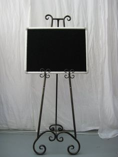 Easel Party Warehouse Picture Stand Wrought Iron Decor Metal Frames Frame