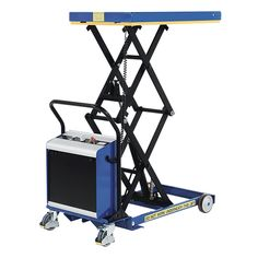 Our SC-450-D-E Battery Electric Double Mobile Scissor Lift Table features a double scissor, lifting loads of 450kg to a height of 1550mm.