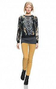 The Ruby jean is in this fantastic CAbi Fall 2013 Collection in Gold Rush - 01.  Fantastic color!