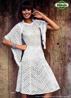 Irish crochet &: CROCHET DRESS + SHAWL ... ПЛАТЬЕ + ШАЛЬ