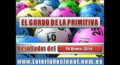 Loteria Nacional presenta El Gordo de la Primitiva sorteo Domingo 19 Enero de 2014. Creditos: www.loterianacional.nom.es