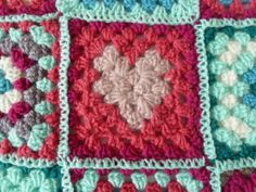Tutorial: the granny square with heart
