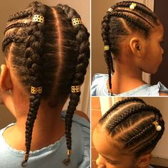 Trendy Hairstyles For Girls Kids Protective Styles Ideas Smart Hairstyles, Lil Girl Hairstyles, Black Kids Hairstyles, Natural Hairstyles For Kids, Kids Braided Hairstyles, Natural Hair Styles Kids, African Kids Hairstyles, Kids Hair Styles, Asian Hairstyles