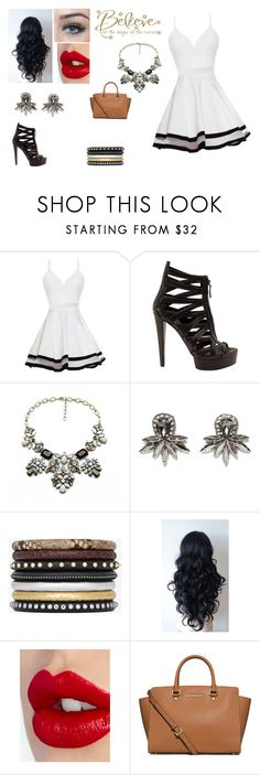 """Believe"" by briannal-porch ❤ liked on Polyvore featuring Gucci, Loli Bijoux, Deepa Gurnani, Yves Saint Laurent, Charlotte Tilbury, MICHAEL Michael Kors and WALL"