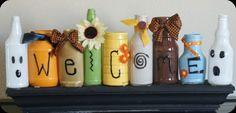 Gil: Potes de vidro de conserva, na decoração, organização, vasos, faça você mesmo!                                                                                                                                                     Mais