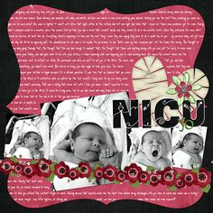 scrapbooking layouts for preemies | ... or Baby Girl kits & Preemie LO's - DigiShopTalk Digital Scrapbooking
