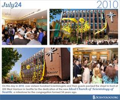 Today marks the 5 year anniversary of the opening of the Ideal Church of #Scientology of Seattle, which was dedicated on this day in 2010. On July 24, 2010, over sixteen hundred Scientologists and their guests packed the street in front of 300 West Harrison in Seattle to celebrate the milestone.