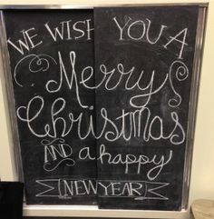 Display Chalkboard greeting Neilson's Department Store