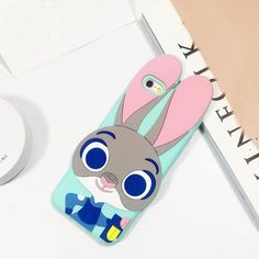 Smart Rabbit Silicon 3D iPhone Case with strap