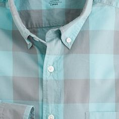 Secret Wash lightweight button-down shirt in oversize gingham $50 #JCrew