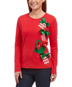 Look at this Red Four Package Scoop Neck Tee on  zulily today! Ugly Sweater 2b4a0eaa0