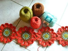 cotton crochet flowers