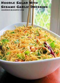 Sesame Garlic Noodle Salad
