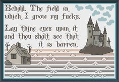 My Field of F*cks (MATURE) - Counted Cross Stitch Pattern (X-Stitch PDF) Thanks for visiting my store! This cross-stitch pattern was personally Cross Stitch Needles, Cross Stitch Fabric, Counted Cross Stitch Patterns, Cross Stitching, Cross Stitch Embroidery, Embroidery Patterns, Stitching Patterns, Hardanger Embroidery, Loom Patterns