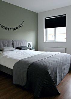 Une maison au look scandinave rock en Angleterre - PLANETE DECO a homes world - - Home Decor Bedroom, Interior Design Living Room, Diy Bedroom, Best Bedroom Colors, Bedroom Green, Home And Living, Inspiration Boards, Diy Adult, Netherlands