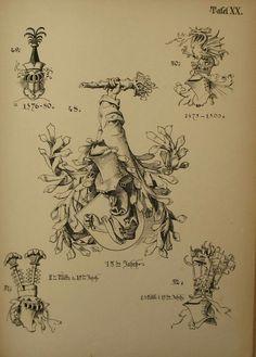 Wappen / Heraldik : Helmzier  Heraldry: Crests