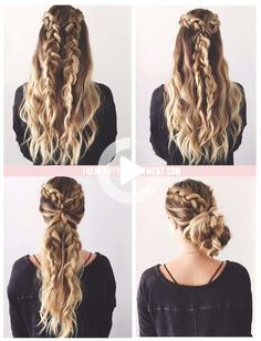 Long hair lovers, this one's for you! We took 2 simple dutch braids and turned it into 3 quick hairstyles. They're so easy and you can pretty much match 1 of these 3 hairstyles with any outfit. You could also wear one to work and seamlessly switch to a different one before heading out to a dinner or event.... Hair Day, New Hair, 2 Braids, Dutch Braids, French Braids, Braids For Long Hair, Trendy Hairstyles, Wedding Hairstyles, Protective Hairstyles