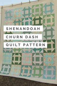 This free quilting pattern may not look like a great stash buster, but it is an excellent way to use up scraps in an interesting and appealing way. The Blueridge Churndash Quilt Pattern uses a medley of light blues and minty greens to create a color scheme that reminds you of a crisp mountain morning. Amish Quilt Patterns, Amish Quilts, Churn Dash Quilt, Traditional Quilt Patterns, Quilt Bedding, Vintage Quilts, Quilt Tutorials, Quilt Blocks, Crisp