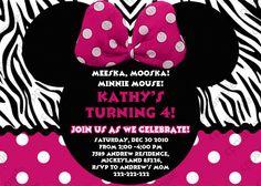 Minnie Mouse Birthday Invitation  Minnie by CreativePartyPixels, $6.00