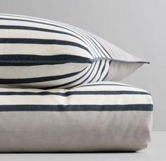 RH Baby & Child's Breton Stripe Framed Duvet Cover:Inspired by the classic…