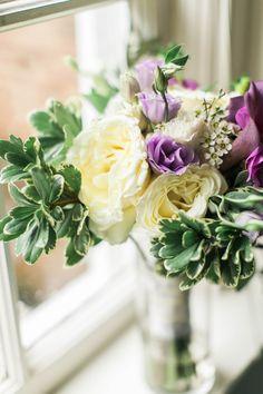 Lavender and white bridal bouquets by www.petalsandtwigsrva.com.  Photo Credit: Jillian Michelle Photography