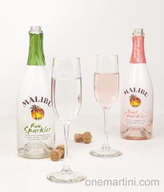 3 Malibu Rum Sparkler Cocktails