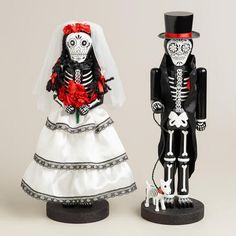One of my favorite discoveries at WorldMarket.com: 14' Wooden Los Muertos Nutcrackers, Set of 2