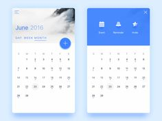 Minimalist calendar designed by Connect with them on Dribbble; Calendar Ui, Calendar Design, Mobile Ui Design, App Design, Win Phone, User Interface Design, Web Design Inspiration, Mobile App, Minimalist