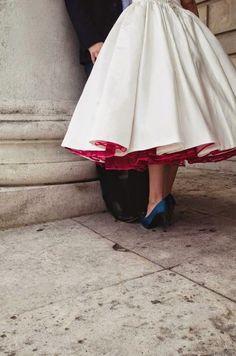 Pozytywne Inspiracje Ślubne: Paleta kolorów {45} czerwony niebieski i biały