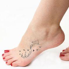 Infini Hakuna Matata tatouage temporaire ensemble de par Tattify
