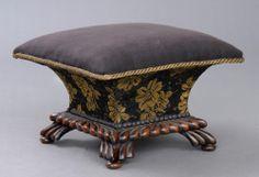 antique foot stools   English Antique Regency Ladies Footstool