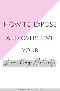 An easy guide on how to expose and conquer your limiting beliefs so you can free yourself of the thought patterns that are holding you back from achieving your goals.