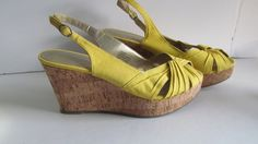 Hey, I found this really awesome Etsy listing at https://www.etsy.com/listing/212228658/yellow-cork-wedge-sandal-sz-65-nine-west