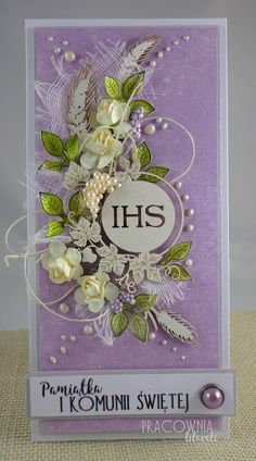 Words For Sympathy Card, First Communion Cards, Money Envelopes, Fancy Fold Cards, Cricut Cards, Easel Cards, Handmade Decorations, Flower Cards, Cute Cards