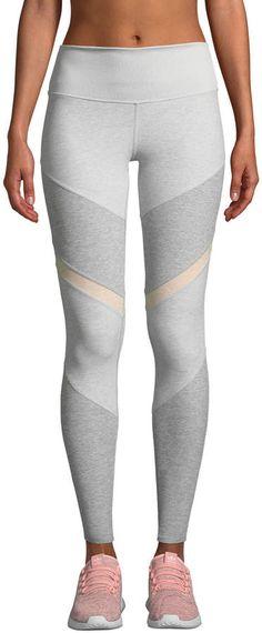 e42c5201ad Alo Yoga Sheila High-Waist Mesh Panel Leggings Mesh Panel Leggings, Ankle  Length,
